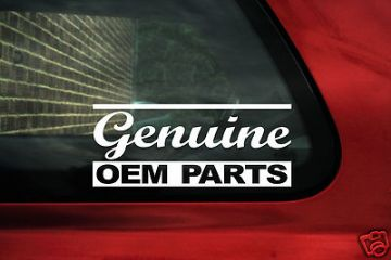 'Genuine oem parts' stickers, Decals, ideal for OEM+ VW , BMW, Mercedes,